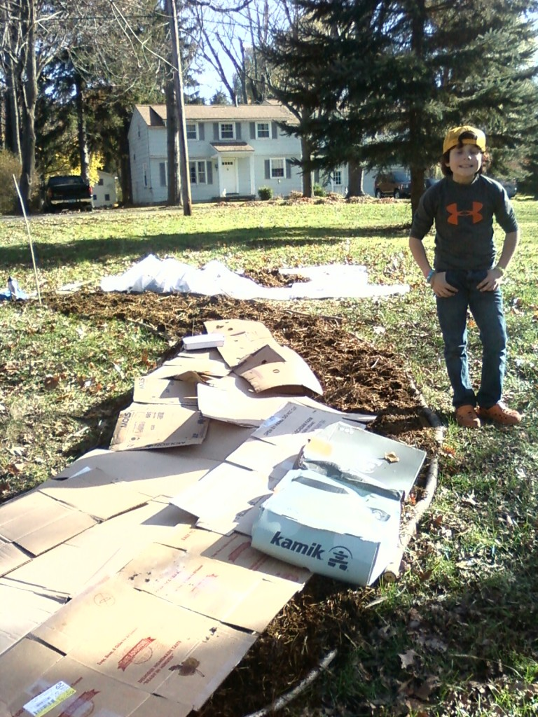 Sheet Mulching Begins at The New Rochester Permaculture Institute